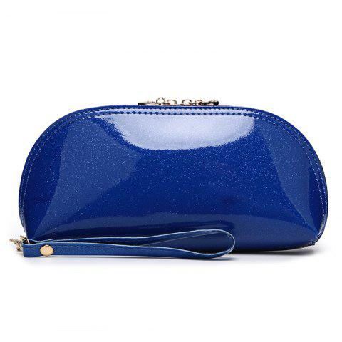 Ladies fashion wild ladies bright handbag - CERULEAN