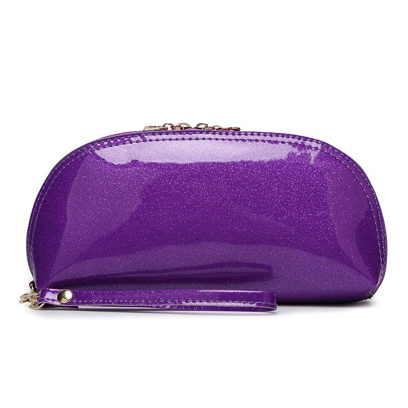 Ladies fashion wild ladies bright handbag - PURPLE
