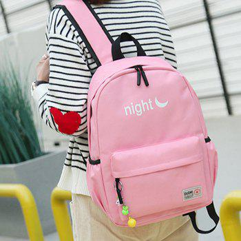 Women's Backpack Preppy Style Patchwork Color Block Faddish Bag - PINK