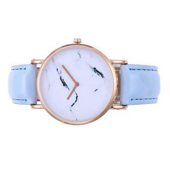ZhouLianFa Elegant Simple Thin Lady Women'S Watch Quartz Fashion Fine Hours Dress Leather Bracelet Girl Birthday Gift - BLUE