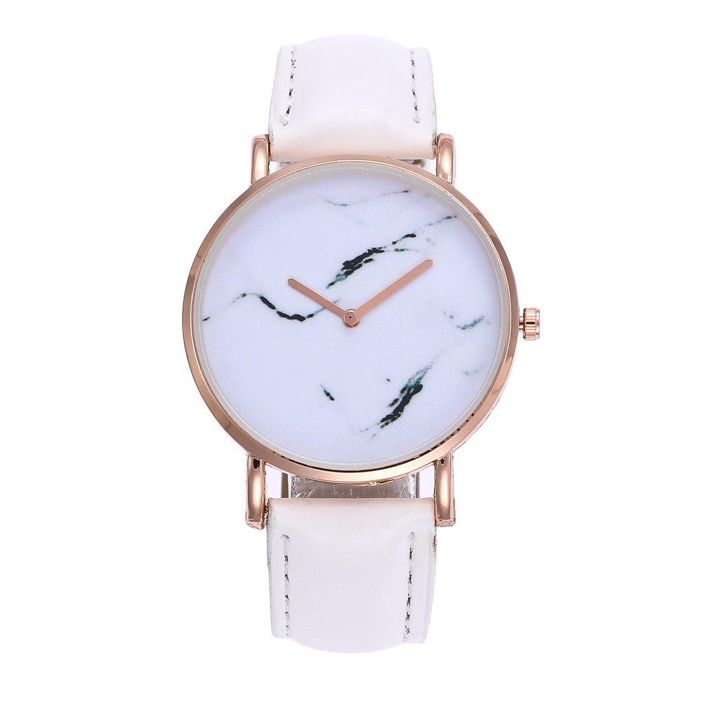 ZhouLianFa Elegant Simple Thin Lady Women'S Watch Quartz Fashion Fine Hours Dress Leather Bracelet Girl Birthday Gift - WHITE