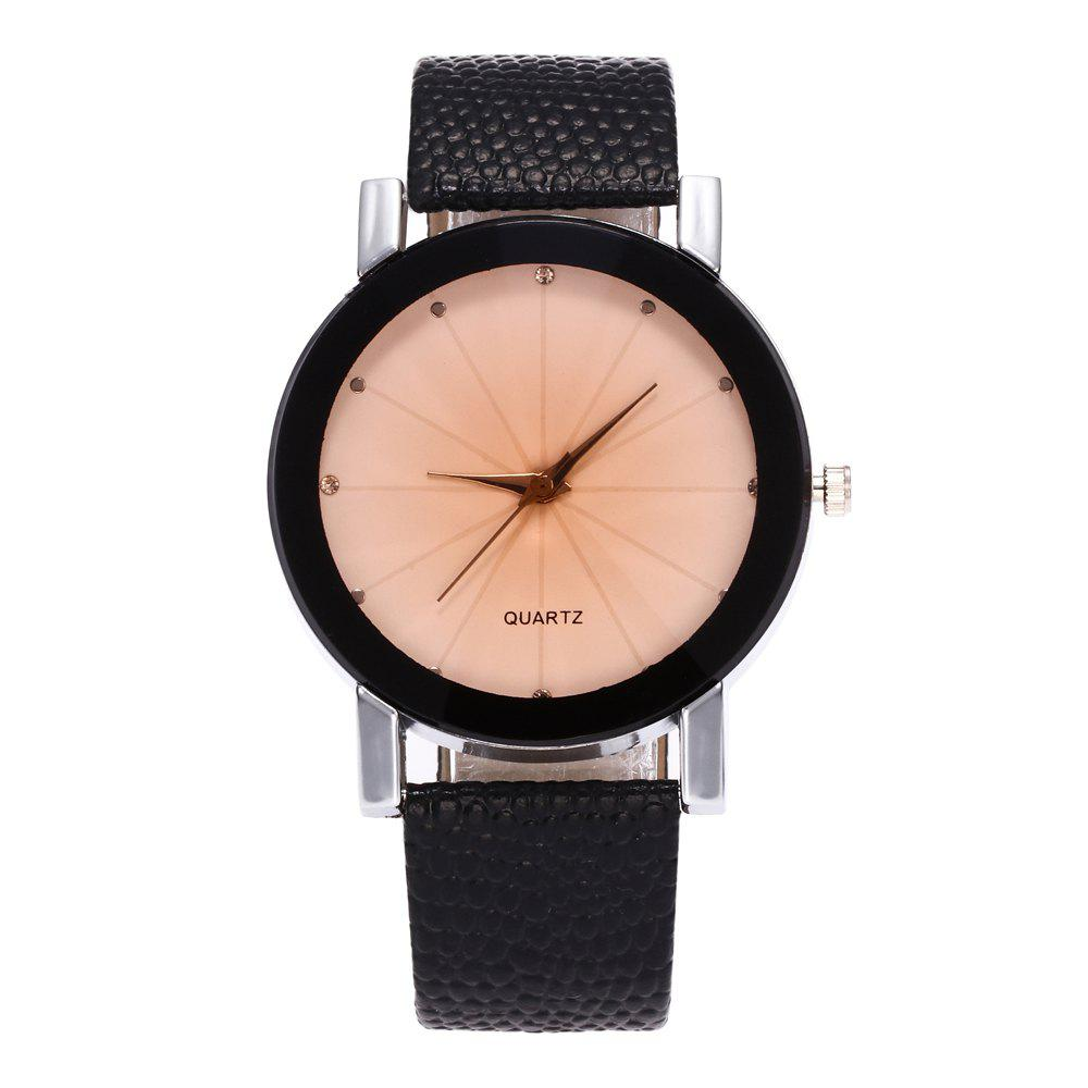 ZhouLianFa Famous Brand Black Leather Classic Color A Pair Couple Watch Women Men Fashion Clock - WHITE