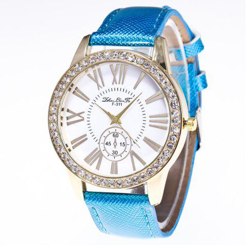ZhouLianFa New Outdoor Fashion Luxury Diamond Ladies Quartz Watch - BLUE