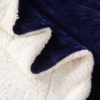 High-End Double Think Blanket Made By Camofleece And Flannel - NAVY SINGLE