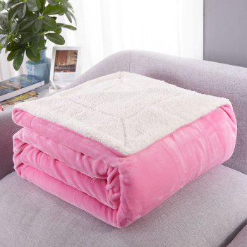 High-End Double Think Blanket Made By Camofleece And Flannel - WHITE PINK SINGLE