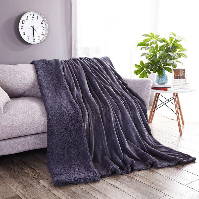 High-End Double Think Blanket Made By Camofleece And Flannel - SMOKE GRAY SINGLE