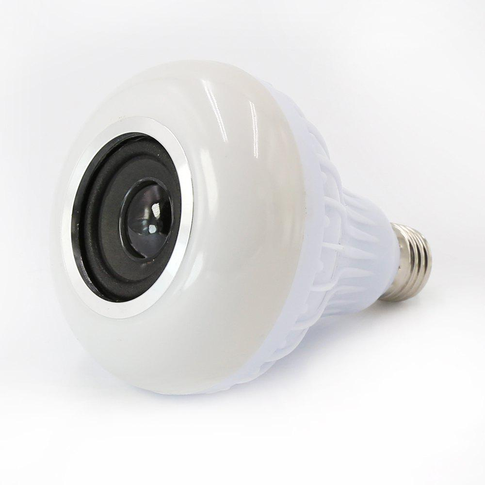 XQT002 - 12W LED Bluetooth Music Light Bulb - WHITE