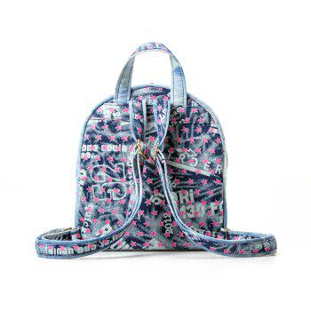 Women Retro Canvas Backpack Casual Backpack for Girls School Backpack - BLUE