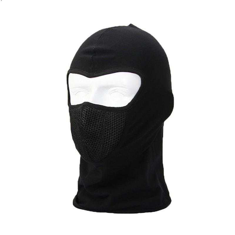 Skiing and Cycling Full Face Mask - BLACK