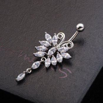 Lovely Butterfly Exquisite Zircon Navel Ring p0067 - WHITE