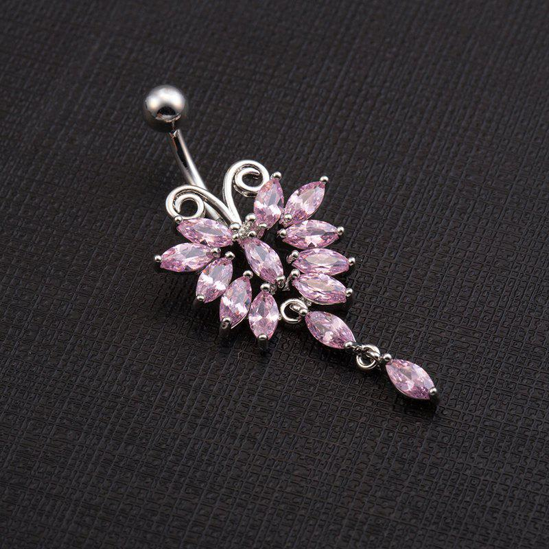 Lovely Butterfly Exquisite Zircon Navel Ring p0067 - PINK