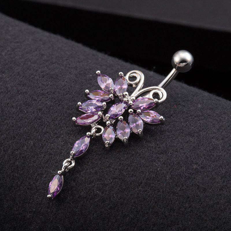 Lovely Butterfly Exquisite Zircon Navel Ring p0067 - PURPLE