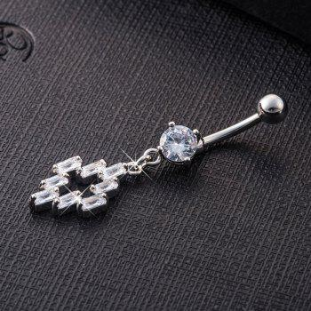 Fashion Irregular Fine Zircon Navel Ring p0076 - SILVER