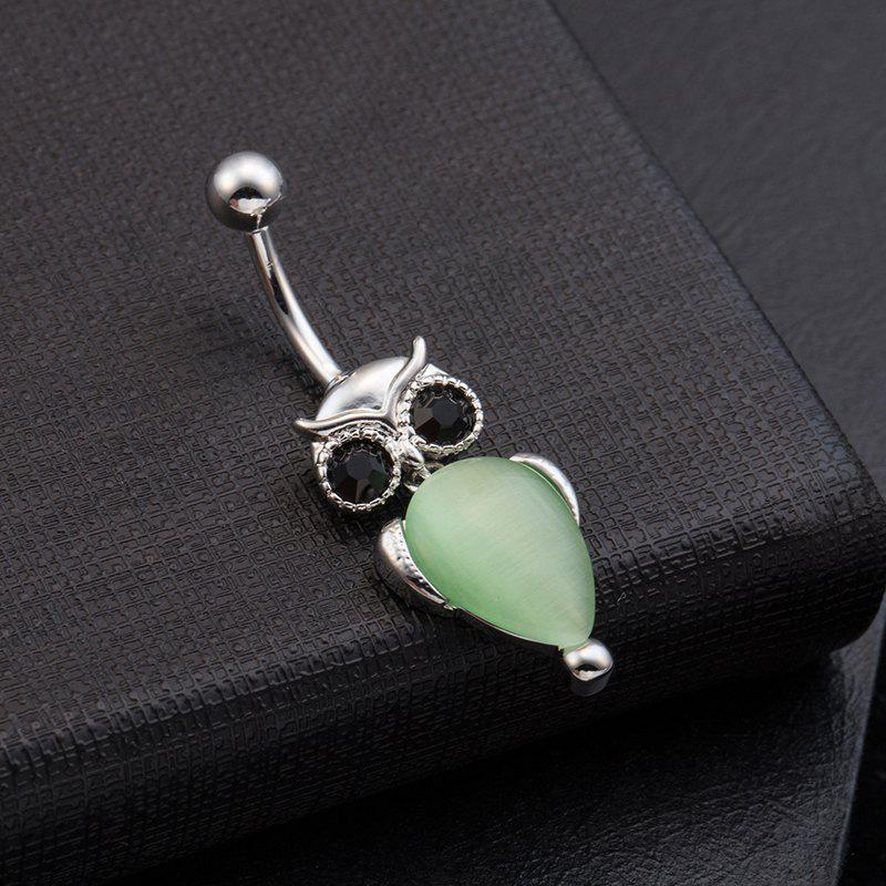 Cute Owl Exquisite Zircon Navel Ring P0080 - GREEN