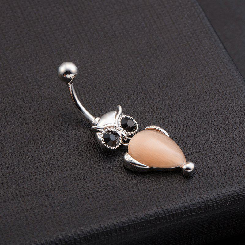 Cute Owl Exquisite Zircon Navel Ring P0080 - CHAMPAGNE