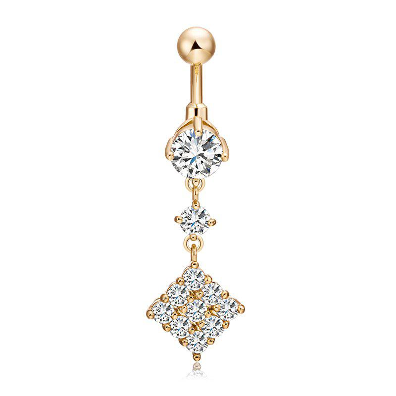 Fashion Micro Set of Exquisite Zircon Navel Ring p0081 - WHITE