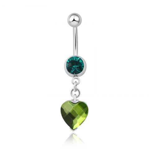 One Point One Wishes Fine Zircon Navel Ring P0082 - GREEN