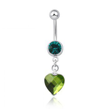 One Point One Wishes Fine Zircon Navel Ring P0082 - GREEN GREEN