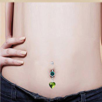 One Point One Souhaite Bague Zircon Navel Fine P0082 - GREEN