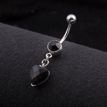 One Point One Wishes Fine Zircon Navel Ring P0082 - BLACK