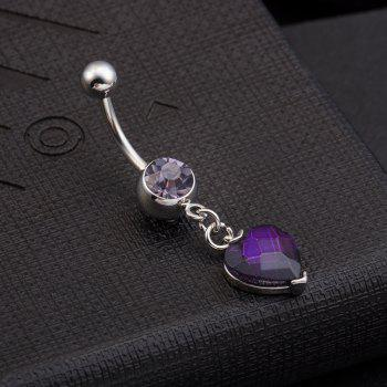 One Point One Wishes Fine Zircon Navel Ring P0082 -  PURPLE