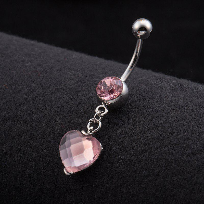 One Point One Wishes Fine Zircon Navel Ring P0082 - PINK