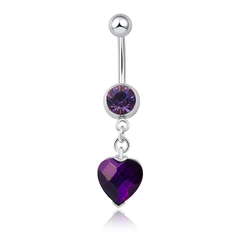 One Point One Souhaite Bague Zircon Navel Fine P0082 - Pourpre