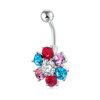 Colorful Petals Exquisite Zircon Navel Ring P0083 - COLORFUL COLORFUL