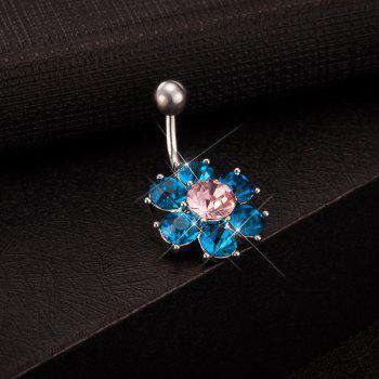 Colorful Petals Exquisite Zircon Navel Ring P0083 - BLUE