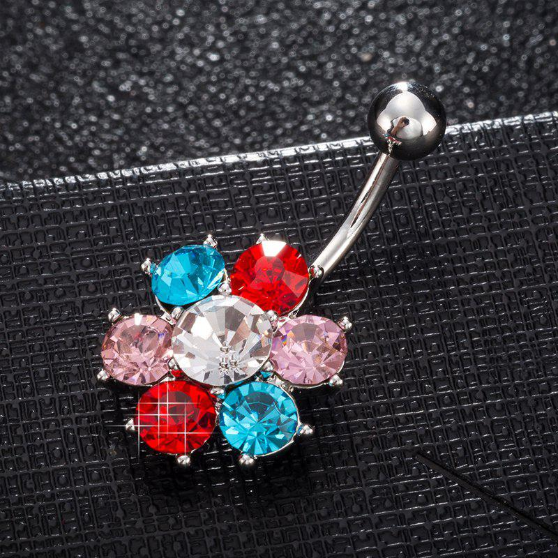 Colorful Petals Exquisite Zircon Navel Ring P0083 - COLORFUL