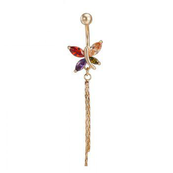 Fashion Color Butterfly Tassel Navel Ring P0090