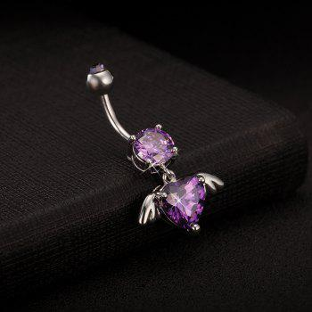 Angel Wing Fine Zircon Navel Ring P0092 - PURPLE