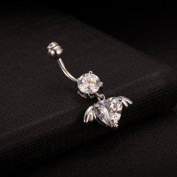 Angel Wing Fine Zircon Navel Ring P0092 - WHITE