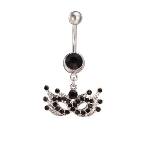 Masque de mascarade Exquis Zircon Navel Ring P0094 - Noir