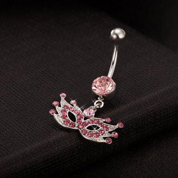 Masquerade Mask Exquisite Zircon Navel Ring P0094 - PINK