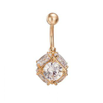 Colorful Multilateral Exquisite Zircon Navel Ring P0095