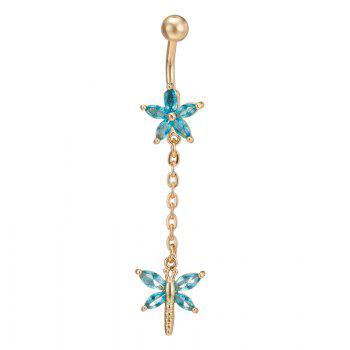 Lovely Petals Decorated with Exquisite Zircon Navel
