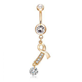Fashion Gold Thread with Zircon Navel Ring