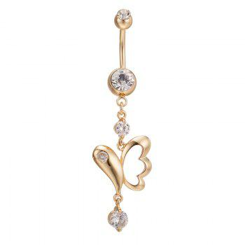 Flying Butterfly Exquisite Zircon Navel Ring P0125