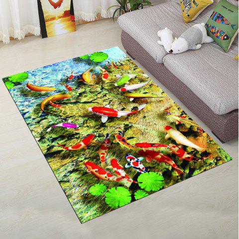 Tapis de sol de cuisine pittoresque Cartoon Fish Pattern Antiskidding tapis - multicolore 140X200CM