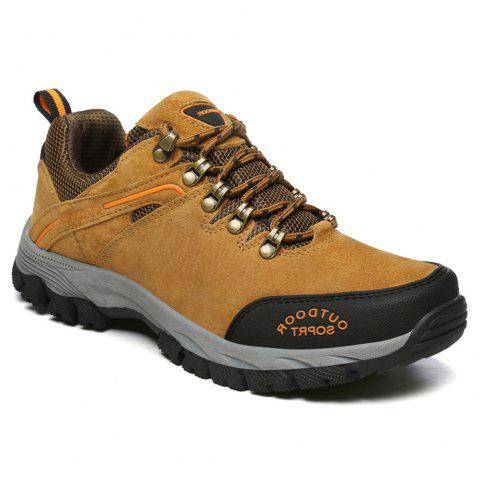 Men'S Lace Hiking Outdoor Hiking Shoes - BROWN 45