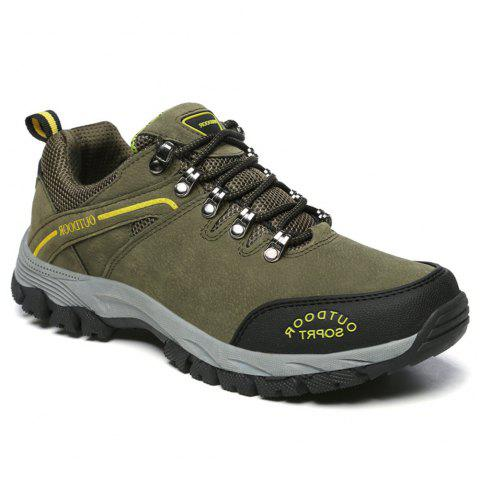 Men'S Lace Hiking Outdoor Hiking Shoes - ARMYGREEN 44