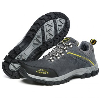 Men'S Lace Hiking Outdoor Hiking Shoes - DEEP GRAY 42