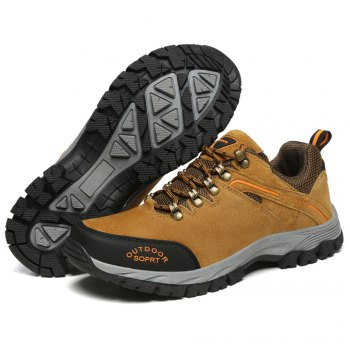 Men'S Lace Hiking Outdoor Hiking Shoes - BROWN BROWN