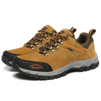 Men'S Lace Hiking Outdoor Hiking Shoes - BROWN 44