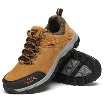 Men'S Lace Hiking Outdoor Hiking Shoes - BROWN 41