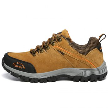 Men'S Lace Hiking Outdoor Hiking Shoes - BROWN 42