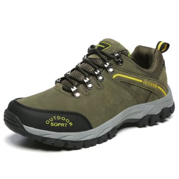 Men'S Lace Hiking Outdoor Hiking Shoes - ARMYGREEN 45
