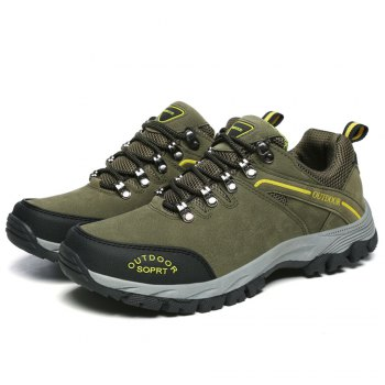 Men'S Lace Hiking Outdoor Hiking Shoes - ARMYGREEN 46