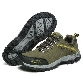Men'S Lace Hiking Outdoor Hiking Shoes - ARMYGREEN 43